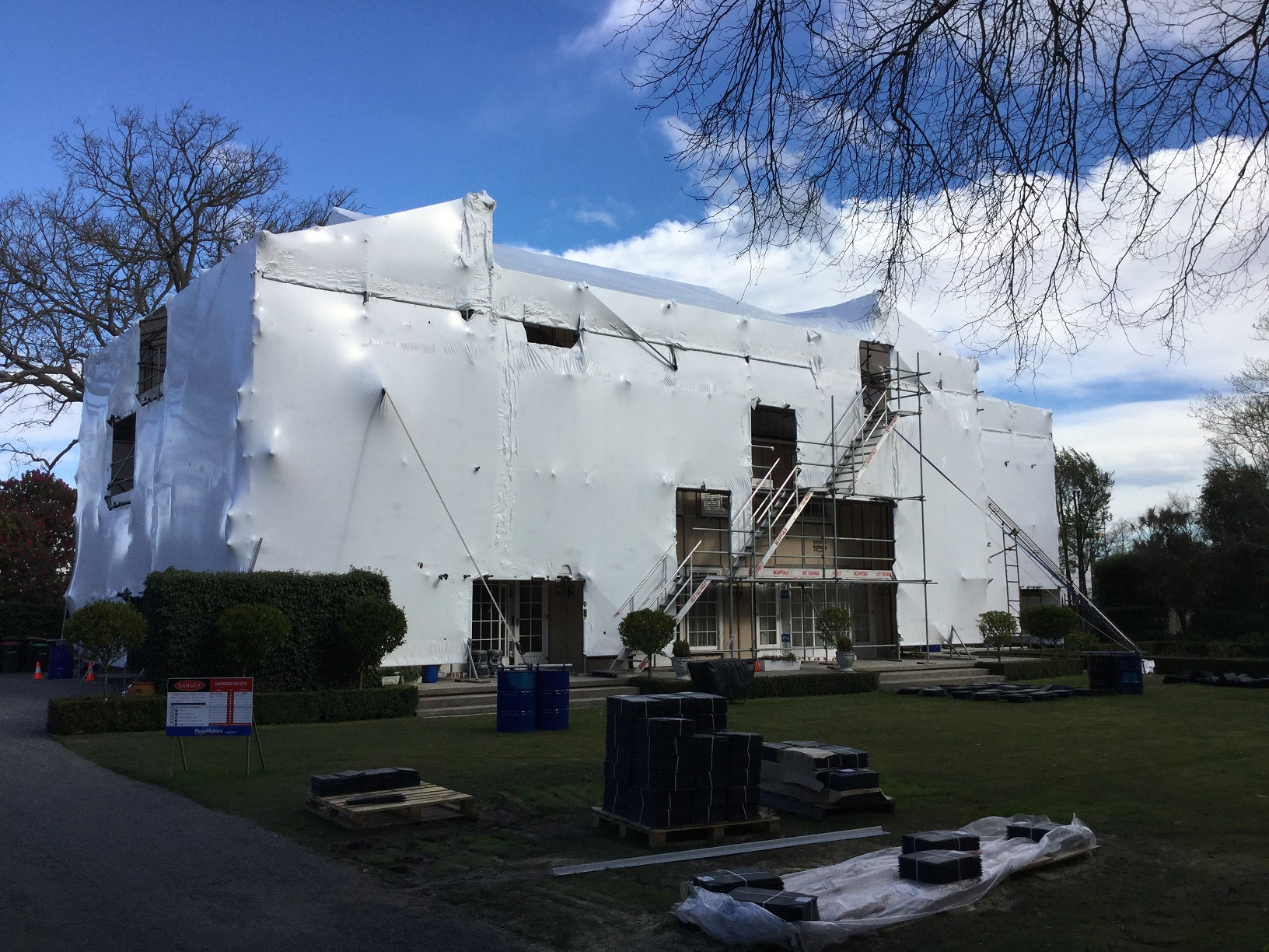Scaffolding Canterbury Shrink Wrap Services Christchurch Canterbury Region